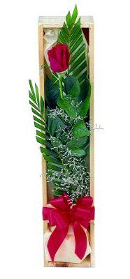 1 adet kutuda kirmizi gül  Nevşehir çiçek online çiçek siparişi