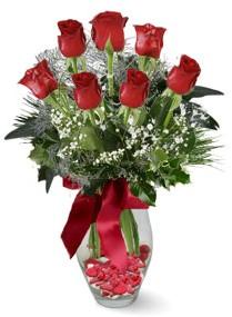 7 adet vazoda gül  Nevşehir çiçek yolla  kirmizi gül
