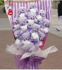 11 adet pelus ayicik buketi  Nevşehir çiçek online çiçek siparişi
