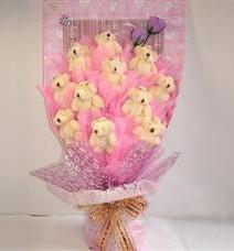 11 adet pelus ayicik buketi  Nevşehir çiçek servisi , çiçekçi adresleri