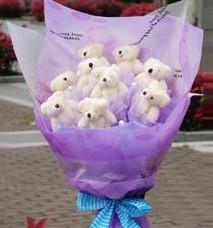 11 adet pelus ayicik buketi  Nevşehir online çiçekçi , çiçek siparişi
