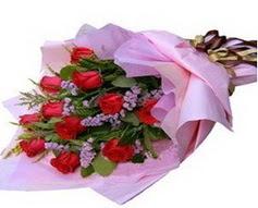 11 adet kirmizi güllerden görsel buket  Nevşehir çiçek online çiçek siparişi