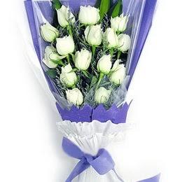 Nevşehir İnternetten çiçek siparişi  11 adet beyaz gül buket modeli