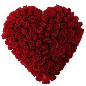 Nevşehir İnternetten çiçek siparişi  muhteşem kırmızı güllerden kalp çiçeği
