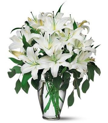 Nevşehir çiçek yolla  4 dal kazablanka ile görsel vazo tanzimi