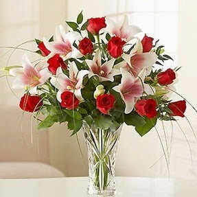 Nevşehir online çiçek gönderme sipariş  12 adet kırmızı gül 1 dal kazablanka çiçeği