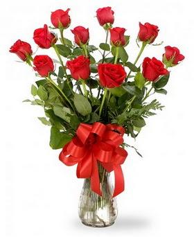 Nevşehir yurtiçi ve yurtdışı çiçek siparişi  12 adet kırmızı güllerden vazo tanzimi