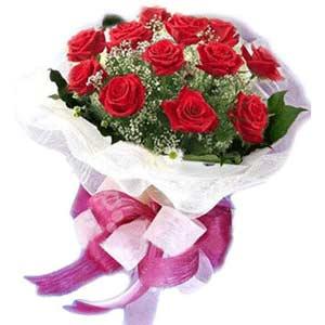Nevşehir güvenli kaliteli hızlı çiçek  11 adet kırmızı güllerden buket modeli