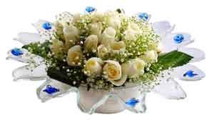 Nevşehir internetten çiçek siparişi  11 adet Beyaz güller özel cam tanzim