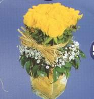 Nevşehir internetten çiçek satışı  Cam vazoda 9 Sari gül