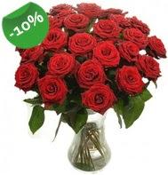 Vazo içerisinde 25 adet kırmızı gül  Nevşehir ucuz çiçek gönder