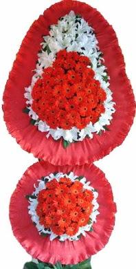 Nevşehir çiçek , çiçekçi , çiçekçilik  Çift katlı kaliteli düğün açılış sepeti