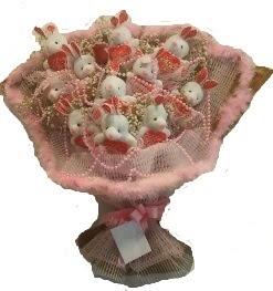 12 adet tavşan buketi  Nevşehir online çiçek gönderme sipariş