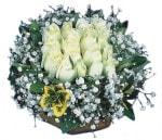 Nevşehir çiçek gönderme  Beyaz harika bir gül sepeti