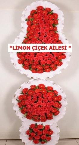 3 katlı kırmızı düğün açılış çiçeği  Nevşehir çiçek mağazası , çiçekçi adresleri