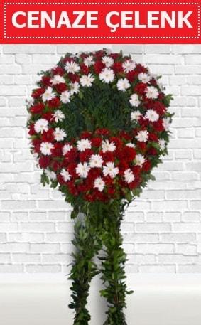 Kırmızı Beyaz Çelenk Cenaze çiçeği  Nevşehir hediye sevgilime hediye çiçek