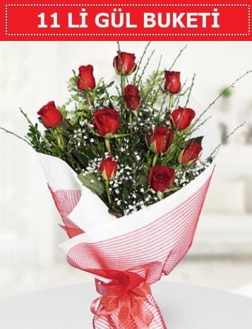 11 adet kırmızı gül buketi Aşk budur  Nevşehir çiçek online çiçek siparişi