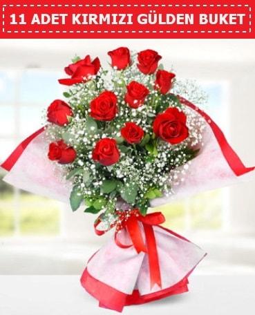 11 Adet Kırmızı Gül Buketi  Nevşehir çiçekçi telefonları