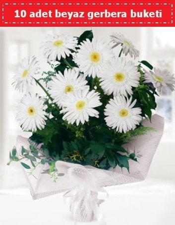 10 Adet beyaz gerbera buketi  Nevşehir yurtiçi ve yurtdışı çiçek siparişi