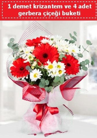 Krizantem ve Gerbera Buketi  Nevşehir çiçek gönderme sitemiz güvenlidir