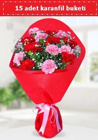 15 adet karanfilden hazırlanmış buket  Nevşehir hediye çiçek yolla