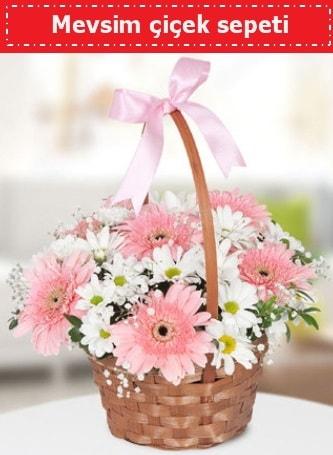 Mevsim kır çiçek sepeti  Nevşehir yurtiçi ve yurtdışı çiçek siparişi