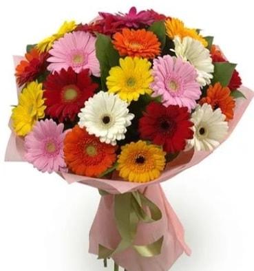 Karışık büyük boy gerbera çiçek buketi  Nevşehir güvenli kaliteli hızlı çiçek